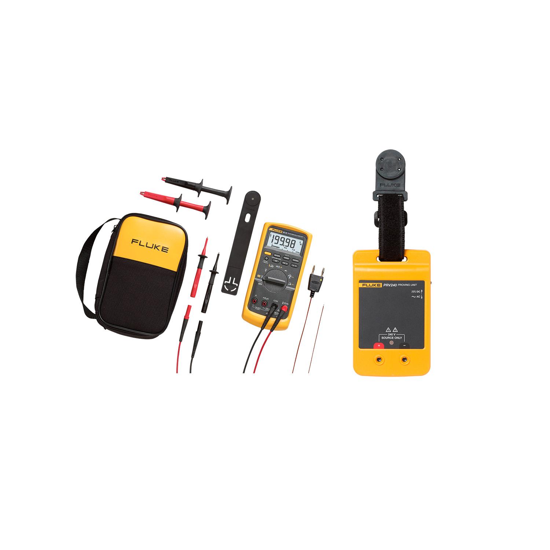 Fluke 87V/E2 Industrial Combo Kit and Fluke PRV240 Proving Unit