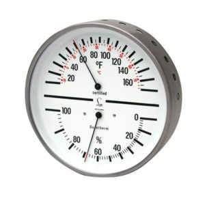 Humidity & Temp – Dial w White Face & Stainless steel case