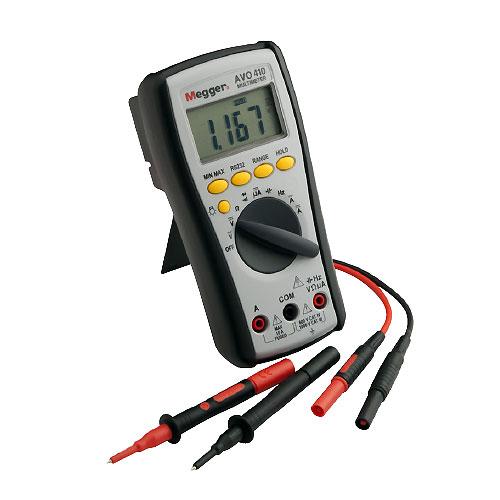 Megger AVO410 True-RMS Digital Multimeter, 1000VDC/750VAC, CAT IV 600 V