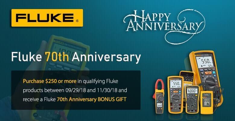 Fluke 70th anniversary offer banner