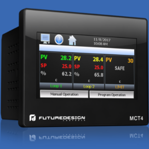 1/4 DIN Multi-Loop controller by Futurdesign - MCT4