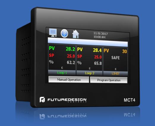 1/4 DIN Multi-Loop controller by Futurdesign - MCT4