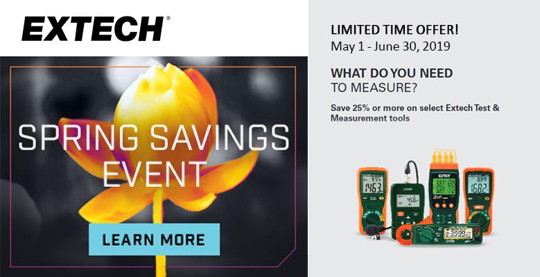 Extech offer banner